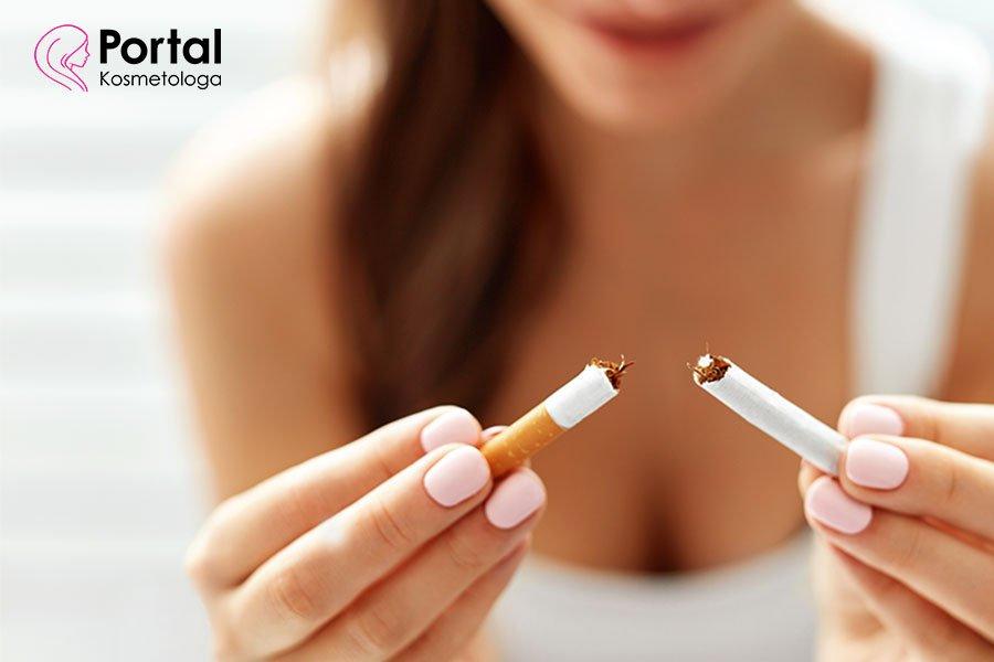 Wpływ nikotyny na skórę