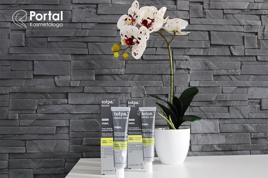 Męska pielęgnacja kosmetykami tołpa